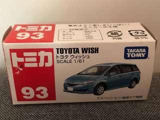 絕版 Tomica 車仔 Toyota WISH 1/61