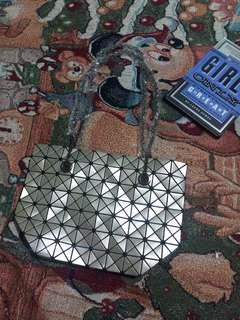 Geometry Bao Bao Bag Metallic Grey