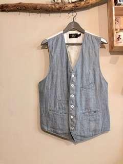 🚚 正品 Double RL Vest 背心 棉麻 牛仔 印地安 古董 古著 Vintage Cowboy 西裝背心 獵裝 RRL polo Ralph Lauren