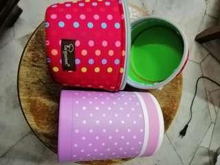 tiffany polka dots thermal food container