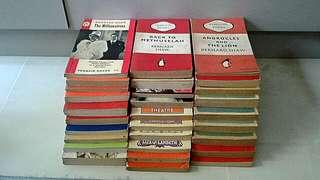 30 Vintage 1950s to 1970s Penguin Books By Wednesday. Somerset  Maughan And George Bernard Shaw