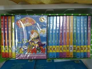 🚚 阿法貝樂園英文教學DVD一套,共二十七片,1~3片拆封,其他全新。
