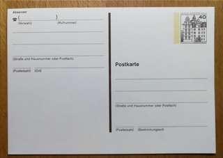 德國郵政明信片_0.40馬克