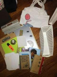 Assorted school/desk supplies