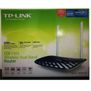 TP-LINK AC750 Wireless Dual Band Router Model Archer C20 (New) #cny888
