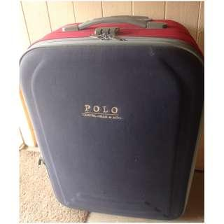 24 Inches Blue Red Polo Expandable Travel Luggage