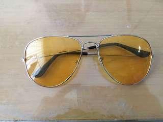 Kacamata vintage jadul retro yellow