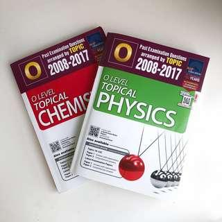 O Level CHEMISTRY and PHYSICS Topical TYS