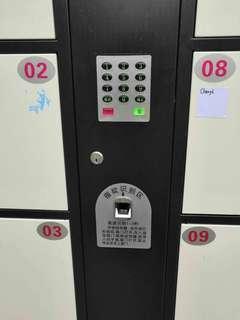 Fingerprints recognition locker cabinets pigeon holes
