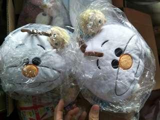 Olaf with Elsa cushion soft toy