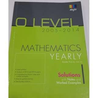 🚚 O Level Mathematics yearly assesement book, 2015 to year 2014