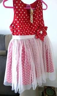 New Polkadot Dress with Tag