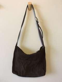 Nine West Brown Suede Sling Bag
