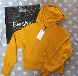 Bershka hoodie mustard
