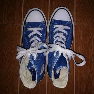 SALE!!! Converse All Star Chuck Taylor Ct Hi Unisex Blue Canvas Trainers