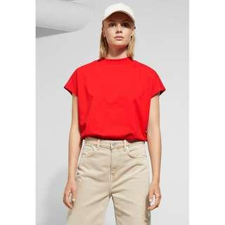 Weekday Basic Red Prime Tee in Organic Cotton (Size S)