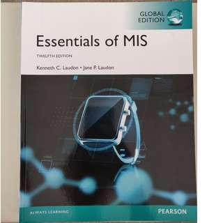 Essentials of MIS 12th edition
