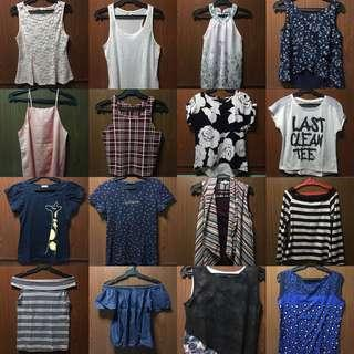 Get all 16 tops! Sulit na! (Still negotiable)