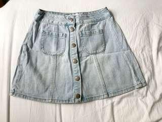 Brandy Melville High-Waist Denim Skirt