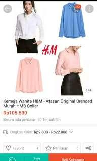 H&M White Collar Blouse