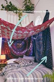 Queen Size Mandala Tapestry: Pinterest Inspiration