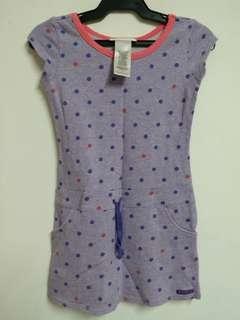 Purple polka dress