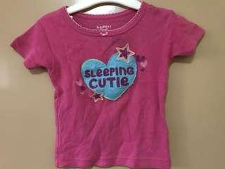 Oshkosh B'gosh pink baby shirt top with tiny black stain