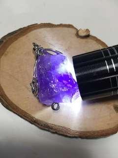 紫水晶原石吊坠
