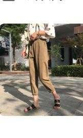 哈倫褲工裝褲咖啡色
