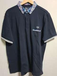fred perry bold check trim pique polo shirt