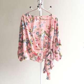 Blouse floral pink