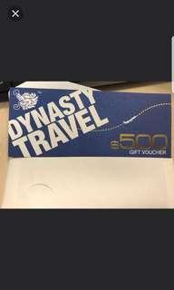 Dynasty travel voucher
