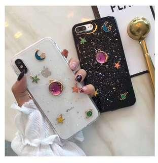 Glitter Galaxy Crystal Star Soft Phone Case Cover Casing