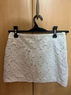 River Island White Lace Skirt