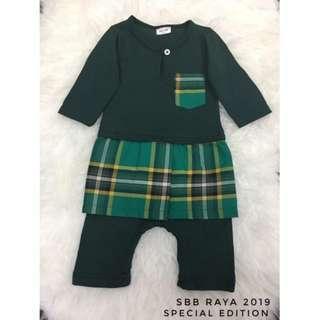 Jumper Melayu Sampin Checker (Emerald Green)