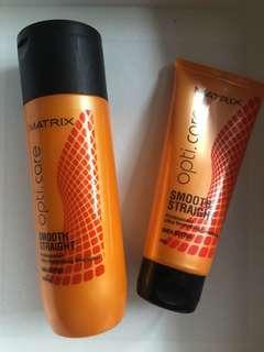 Matrix Opti.care shea butter shampoo and conditioner