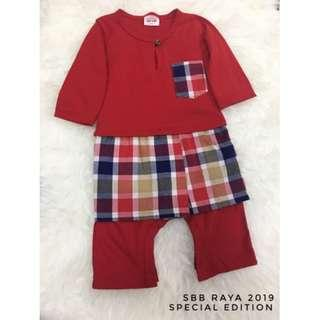 Jumper Melayu Sampin Checker (Red)