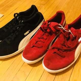 Puma shoes black and red snd limited edition of adidas