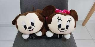Disney's Mickey & Minnie plushies (set of 2)