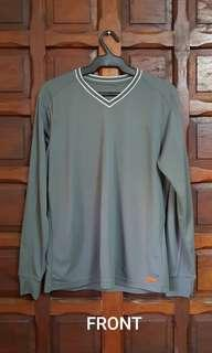 Uniqlo Gray Long Sleeved Dri-fit Shirt