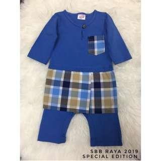 Jumper Melayu Sampin Checker (Blue)