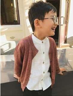 棉麻立領襯衫