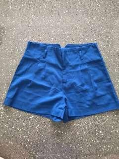 High waist shorts (Blue)