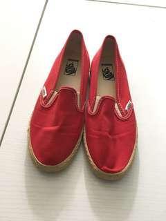 US6 / EUR36 紅色 Vans 布鞋