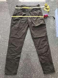 Army green long pants