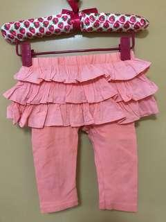Baby leggings with skirt fits up to 24 months