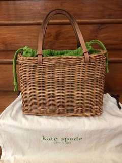 Kate Spade Rattan Straw Bag / picnic basket