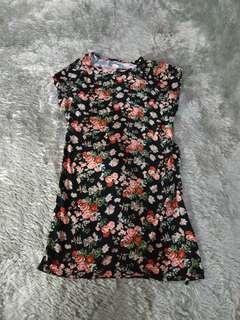 Flower Mini Dress Top bkk bangkok import shabby body cont strech