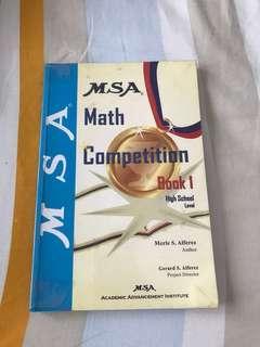 MSA Math Competition Book 1