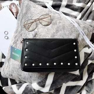 Missguided Pearl Quilted Crossbody Bag
